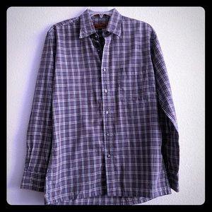 Yves Saint Laurent Men's Plaid Button Up shirt M